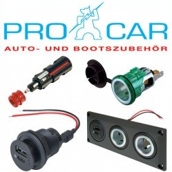 Procar 12V/24V Plugs Sockets & Adaptors