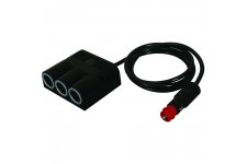Pro Car Triple Surface-Mounted Power Socket + Plug