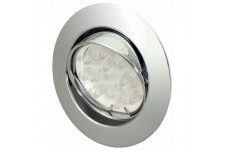LED Spotlight - Moveable Silver Brush