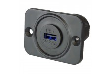 Alfatronix Panel-Mount Single USB Socket (2.1A Output)