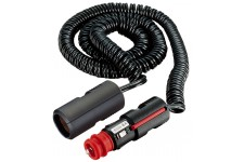 Pro Car Coiled Cable W. Plug + Lighter-Type Socket