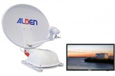 "Alden 60cm AS2 (Twin LNB) with AIO 24"" TV"