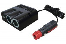 Pro Car Triple Surface-Mounted Socket Inc USB With P