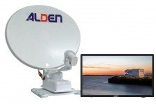 "Alden 65cm Onelight Twin LNB with AIO 24"" TV"