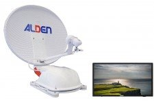 "Alden 60cm AS2 (Twin LNB) with AIO 22"" TV"