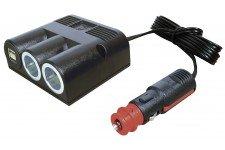 Pro Car Surface-Mounted Twin Lighter Socket + Twin USB With