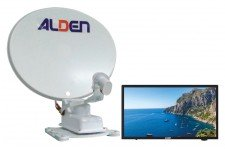 "Alden 65cm Onelight Twin LNB with AIO 18.5"" TV"