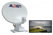 "Alden 65cm Onelight Twin LNB with AIO 22"" TV"