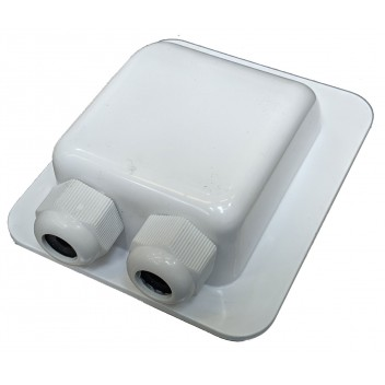 Image for 2-Hole Waterproof Cable Box (2-6mm White Gland)