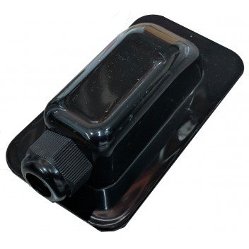 Image for 1-Hole Waterproof Cable Box (2-6mm Gland) Black
