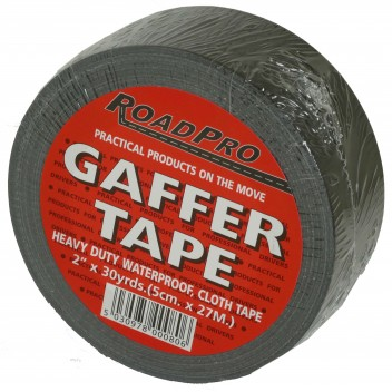 Image for Roadpro Gaffer Tape (Black): 30yds X 2 Inch